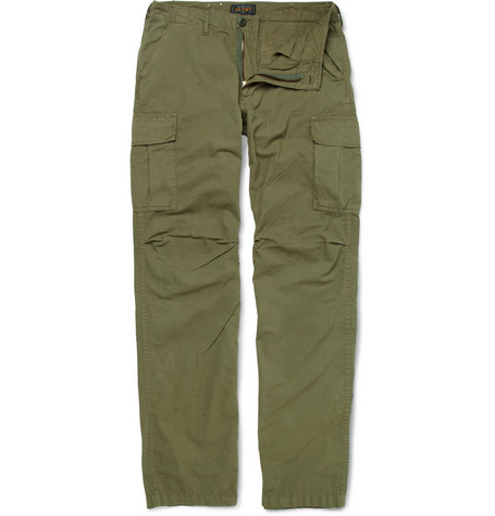 Beams Plus Slim-Fit Cotton-Blend Cargo Trousers