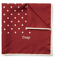 Drake's - Silk Polka-Dot Pocket Square