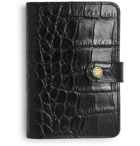Mulberry Small Crocodile-Embossed Leather Organiser