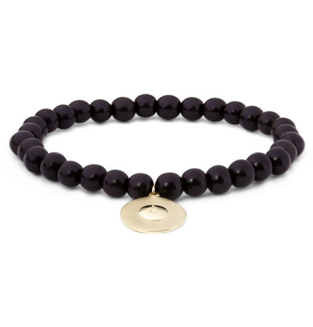 Luis Morais Ebony and Gold Eye Bracelet