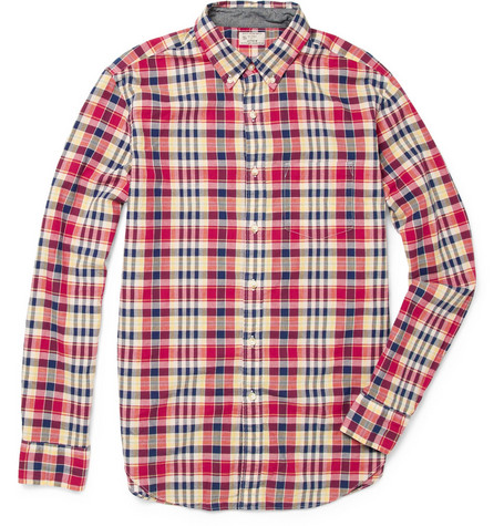 J.Crew Madras-Check Cotton Shirt