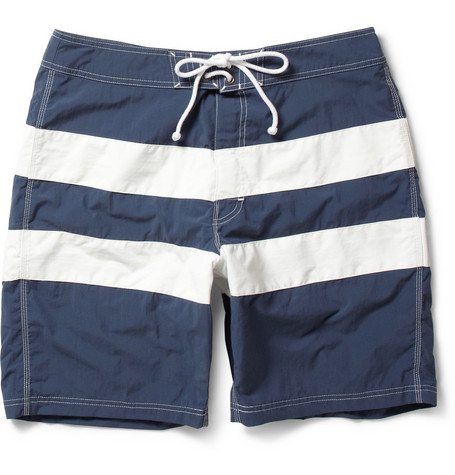 J.Crew Long-Length Striped Swim Shorts