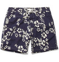 J.Crew Mid-Length Flower-Print Swim Shorts