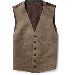 J.Crew Herringbone Linen Waistcoat