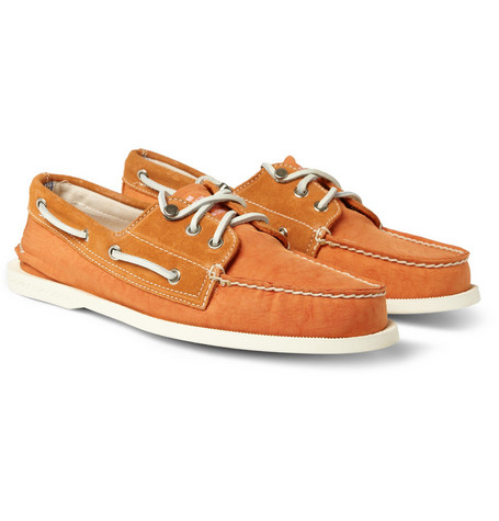 Sperry Top-Sider Suede-Trimmed Boat Shoes