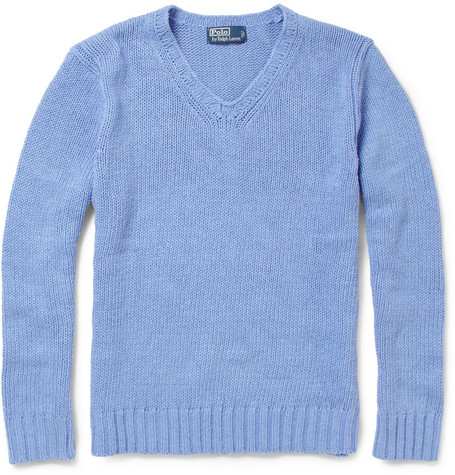 Polo Ralph Lauren Linen, Cotton and Silk-Blend Knitted Sweater