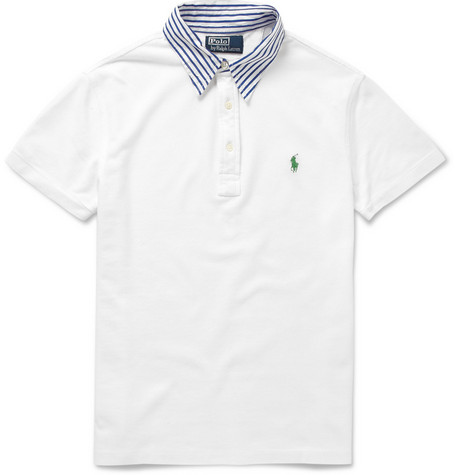 Polo Ralph Lauren Contrast Collar Cotton-Piqué Polo Shirt