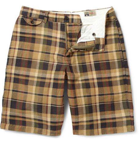 Polo Ralph Lauren Madras-Check Cotton-Blend Shorts