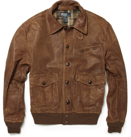 Polo Ralph Lauren Morrow Skeet Leather Bomber Jacket