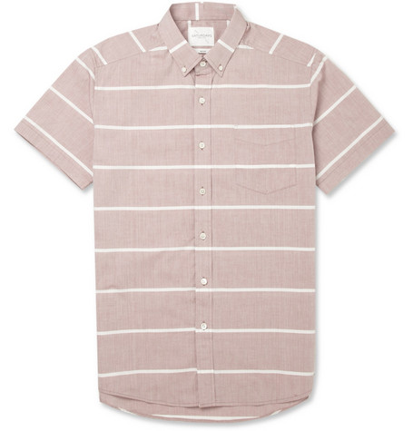 Saturdays Surf NYC Esquina Horizon Striped Short-Sleeved Cotton Shirt