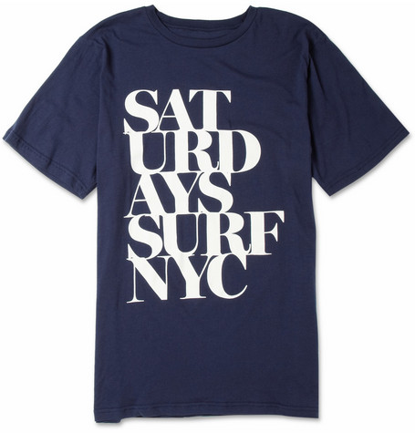 Saturdays Surf NYC Broken Stack Printed Cotton T-Shirt