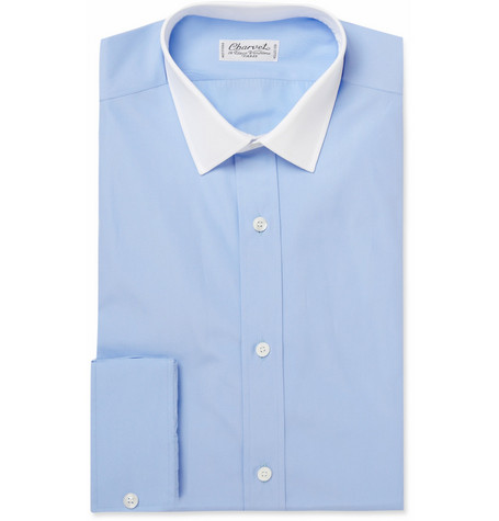 Charvet Contrast Collar Cotton Shirt