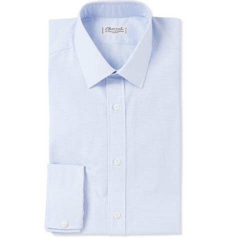 Charvet Gingham Check Cotton-Batiste Shirt