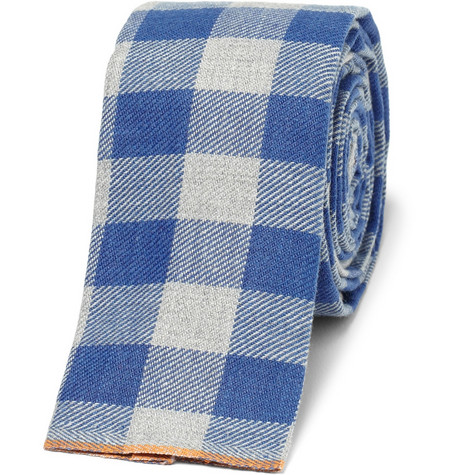 The Hill-Side Slim Gingham Check Cotton Tie