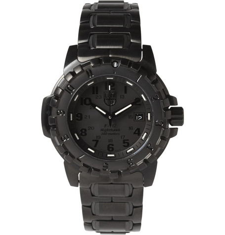 Luminox 6400 Series Brushed Steel Watch