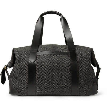 Cherchbi Archive Cotton and Linen-Blend Herringbone Holdall Bag