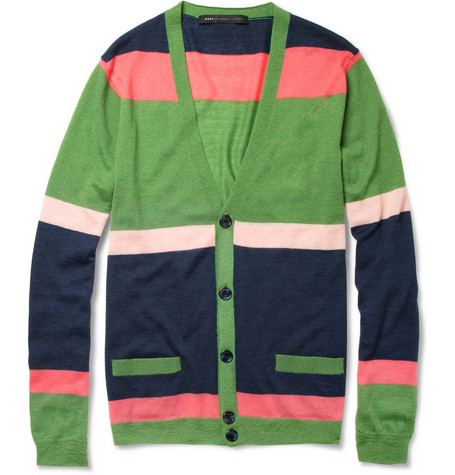 Marc by Marc Jacobs Striped Cashmere Cardigan