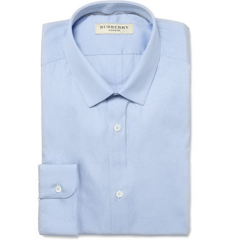 Burberry London Blue Slim-Fit Cotton Shirt