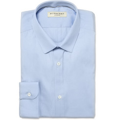 Burberry London Light Blue Slim-Fit Cotton Shirt