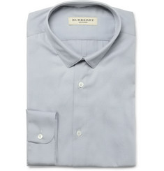 Burberry London Grey Slim-Fit Cotton Shirt