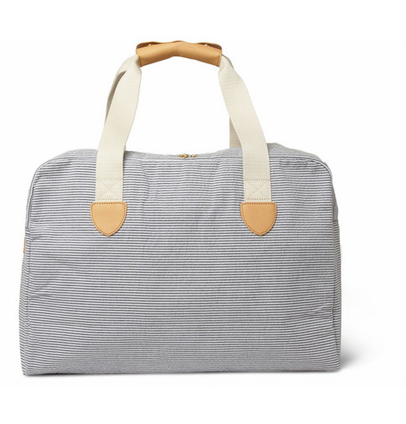 A.P.C. Striped Cotton-Seersucker Holdall Bag