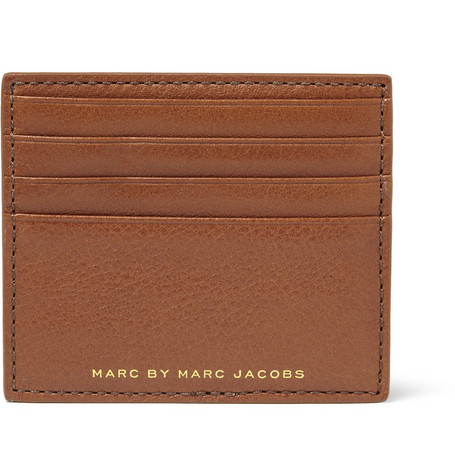 Marc by Marc Jacobs Werdie Boy Textured-Leather Card Holder