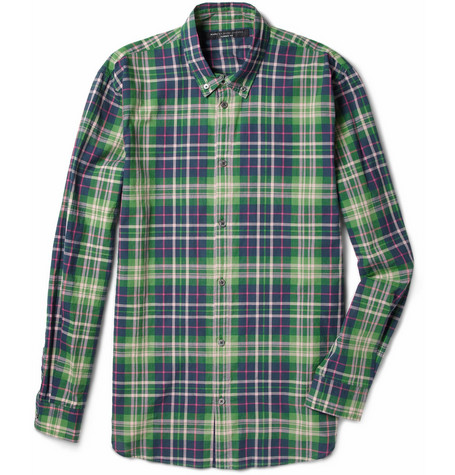 Marc by Marc Jacobs Horton Plaid Cotton Shirt