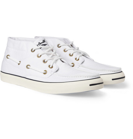 Converse Jack Purcell Cotton-Twill Boat Sneakers