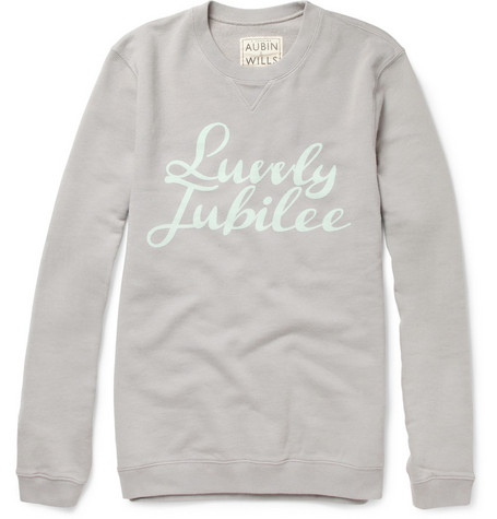 Aubin & Wills Swindale Printed Loopback Cotton-Jersey Sweatshirt