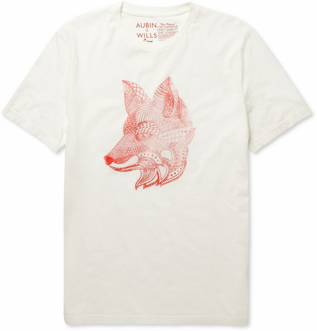 Aubin & Wills Attingham Fox-Print Cotton-Jersey T-shirt
