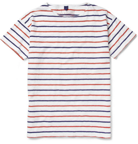 Aubin & Wills Ramlen Striped Cotton T-Shirt