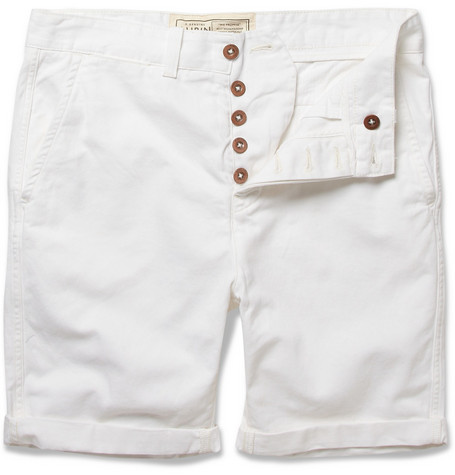 Aubin & Wills Berridge Straight-leg Cotton-Twill Shorts