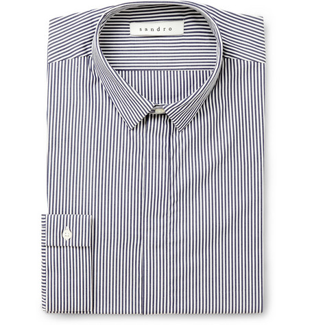 Sandro Calo Striped Cotton Shirt