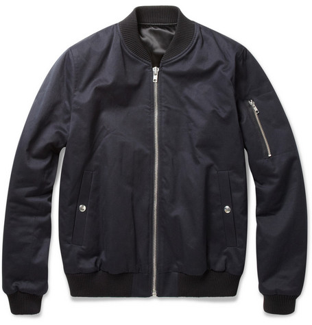 Sandro Padded Cotton-Twill Bomber Jacket
