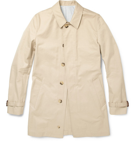 Sandro Manning Cotton Twill Rain Coat