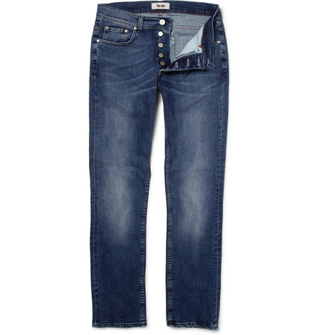 Acne Roc the Boat Slim-Fit Worn Jeans