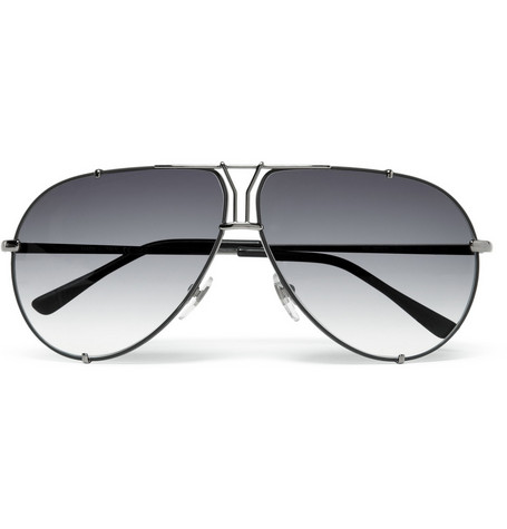 Yves Saint Laurent 'Y' Logo Aviator Sunglasses