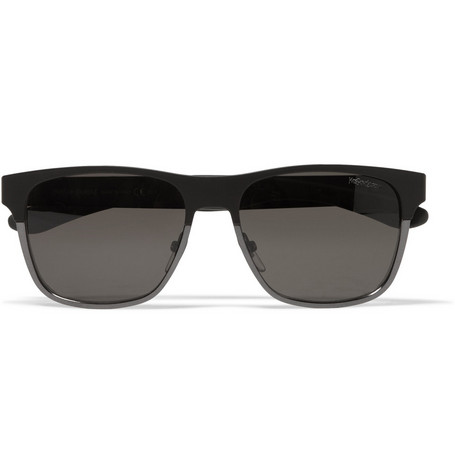 Yves Saint Laurent Square-Frame Metal Sunglasses