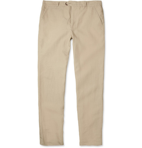Oliver Spencer Fishtail Linen Trousers