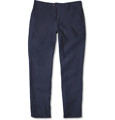 Oliver Spencer Straight-Leg Linen Suit Trousers
