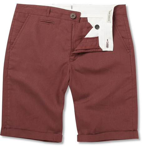 Oliver Spencer Slim-Fit Linen Shorts
