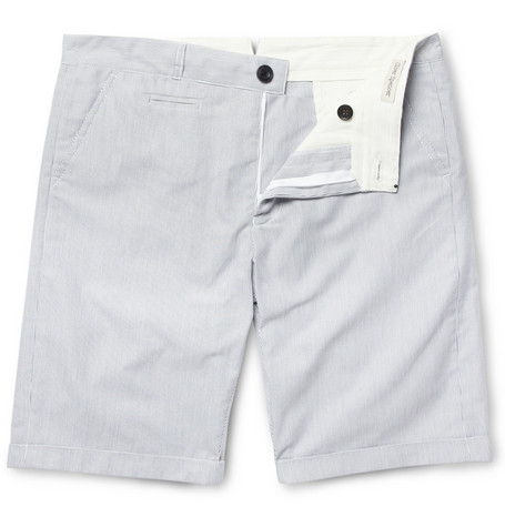 Oliver Spencer Straight-Leg Pinstripe Cotton Shorts