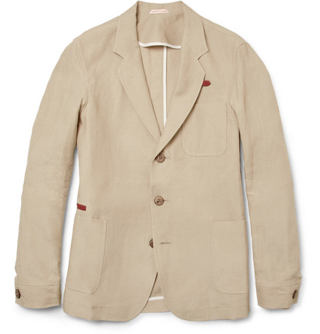 Oliver Spencer Fulmar Slim-Fit Linen Blazer