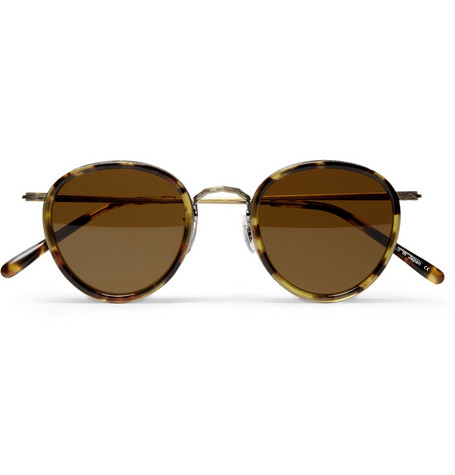 Oliver Peoples MP-2 Filigree-Metal and Acetate Sunglasses