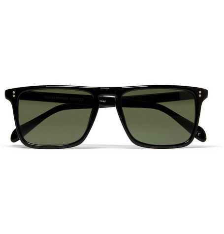 Oliver Peoples Bernardo Polarised Square-Frame Sunglasses