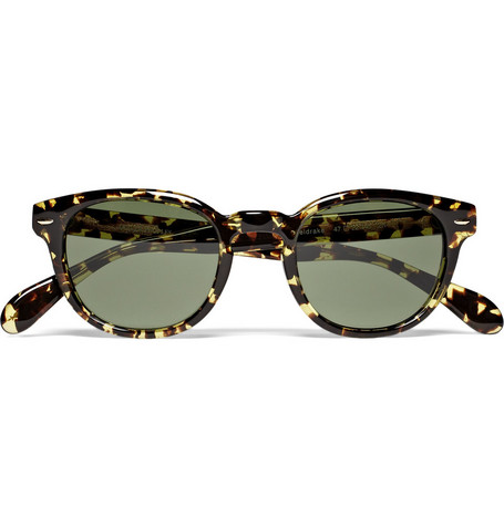 Oliver Peoples Sheldrake Round-Frame Acetate Sunglasses