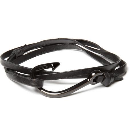 Balenciaga-Leather-and-Metal-Bracelet-2
