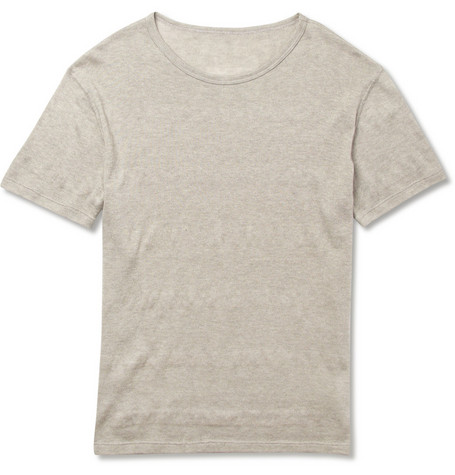 The Elder Statesman Knitted Cotton and Cashmere-Blend T-Shirt