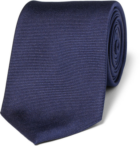 Turnbull & Asser Classic Ribbed Silk Tie