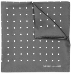 Turnbull & Asser Polka-Dot Silk Pocket Square